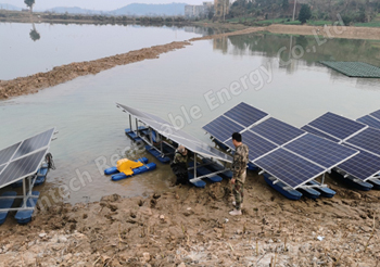 100 sets of solar aeration system were successfully installed and used in Jiangxi